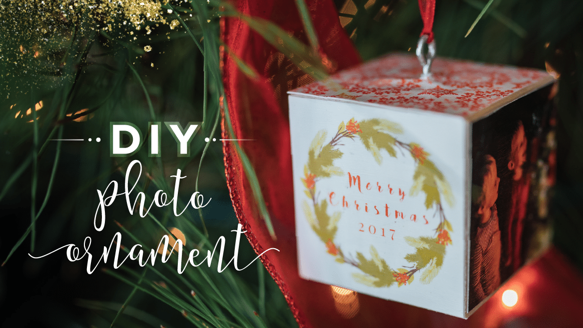 DIY Custom Photo Block Ornament Tutorial